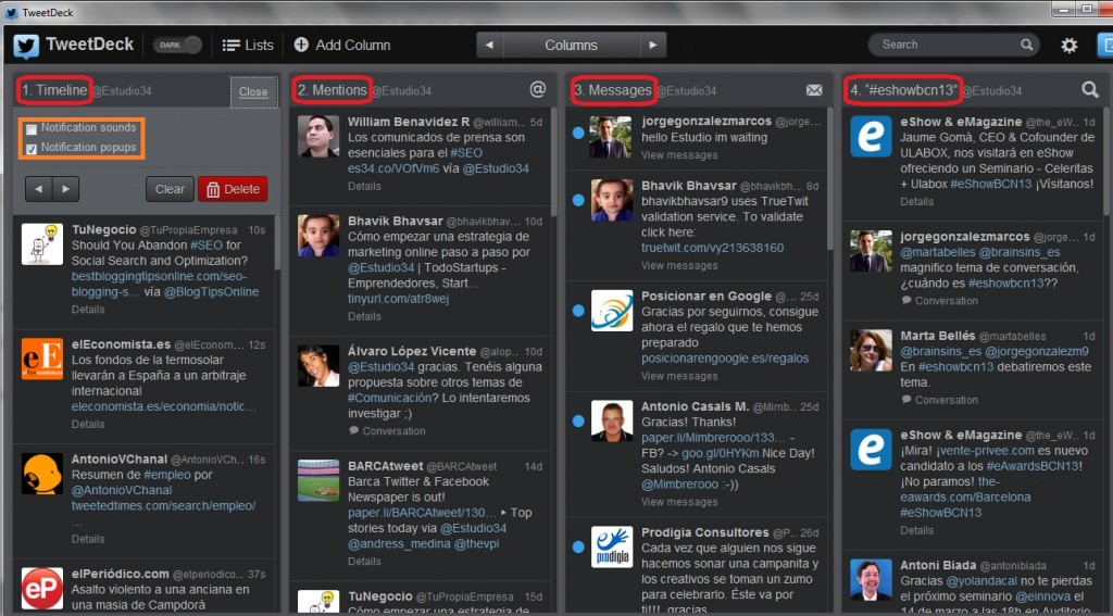 Tweetdeck - E-Studio34