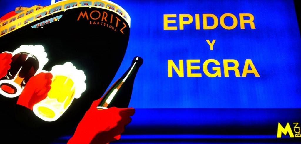 Slogan de la cerveza Mortiz Barcelona - Epidor Y Negra- Moritz