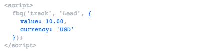 Seguimiento de conversiones de Facebook Ads con Google Tag Manager Código 1