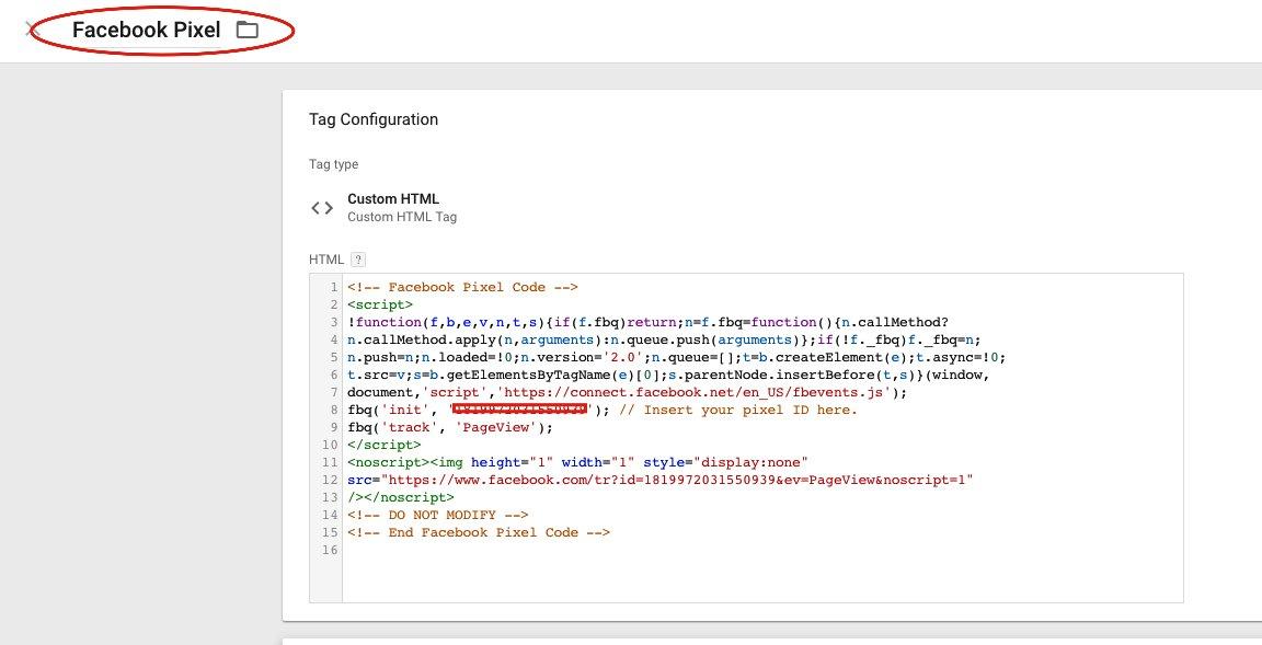 Seguimiento de conversiones de Facebook Ads con Google Tag Manager 4
