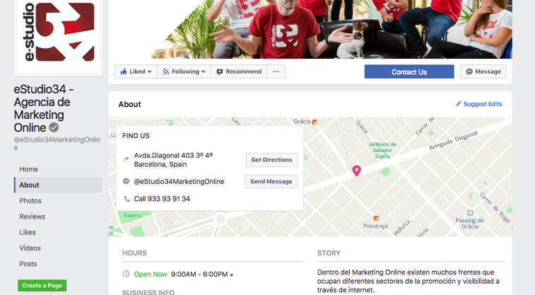 ubicaciones múltiples en facebook