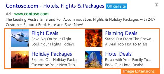 Extensiones de Imagen en Bing Ads