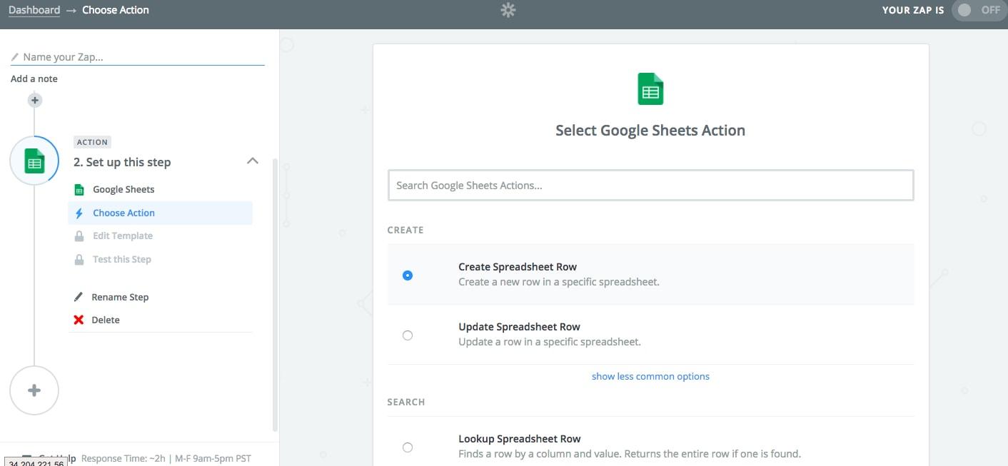 Integrar Unbounce con Google Sheets 08