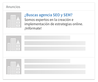 Anuncios en Linkedin ads - 4 text ads
