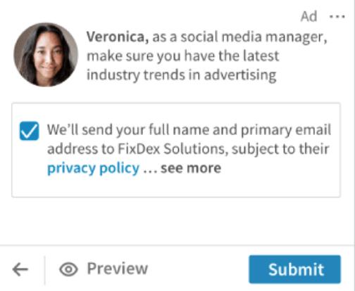 Anuncios en Linkedin ads - anuncios dinamicos