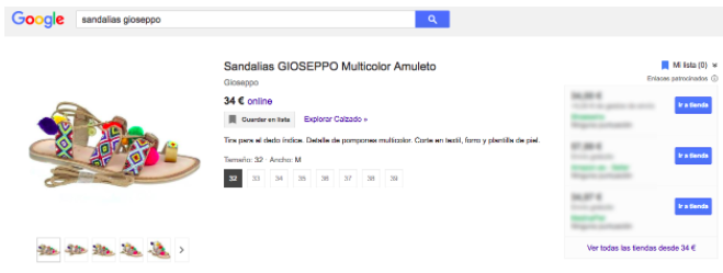 Productos en Google Shopping 05