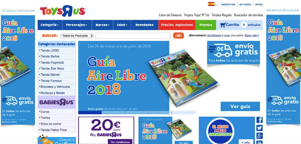 Analisis de Usabilidad: Toysrus Home