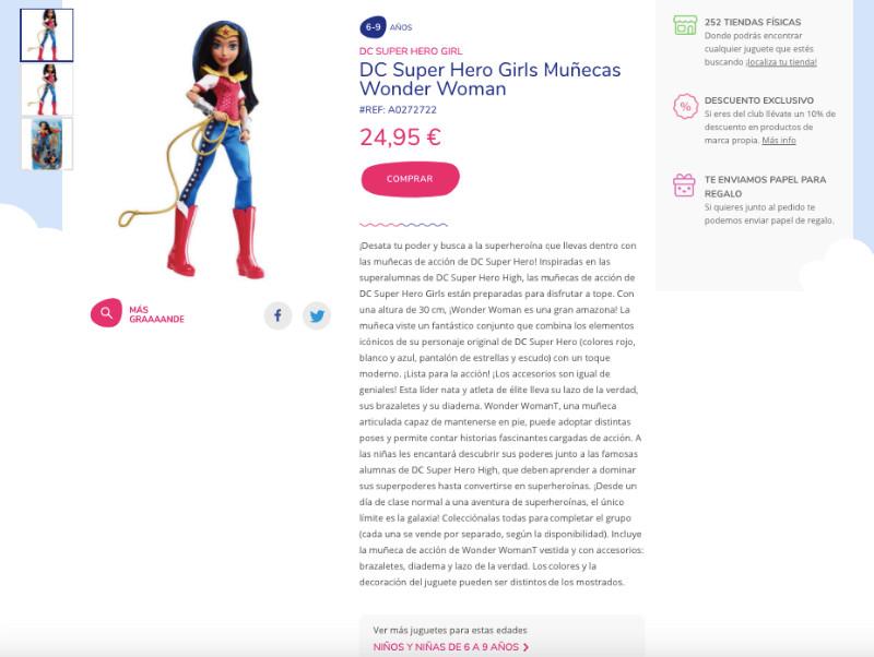 Analisis de usabilidad juguettos ficha producto