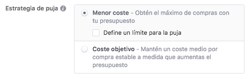 Facebook Ads Menor Coste