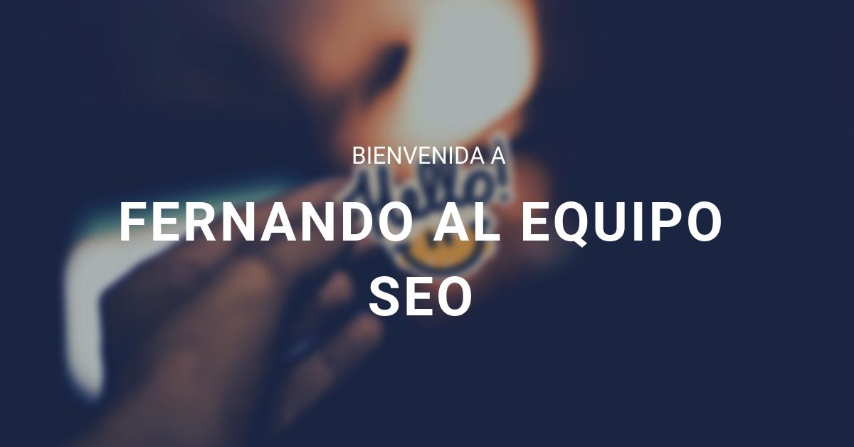 Post Bienvenida Fernando eStudio