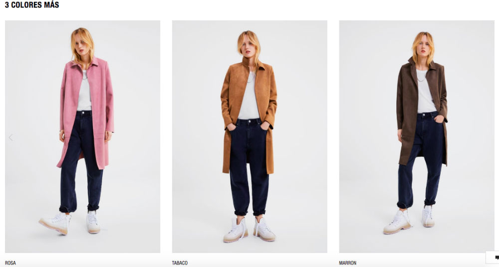 Internal linking: productos de zara