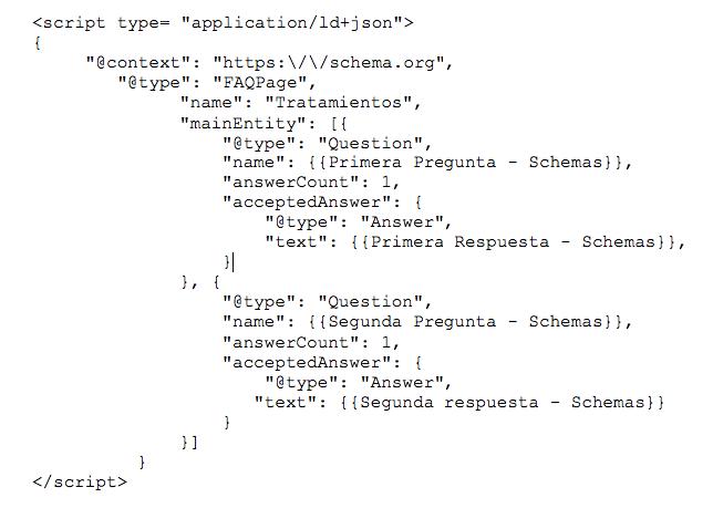 Datos estructurados: script json ld