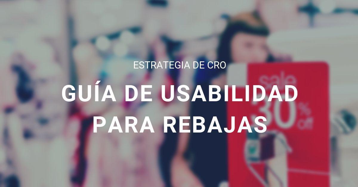 Portada - UX y Rebajas - guia usabilidad