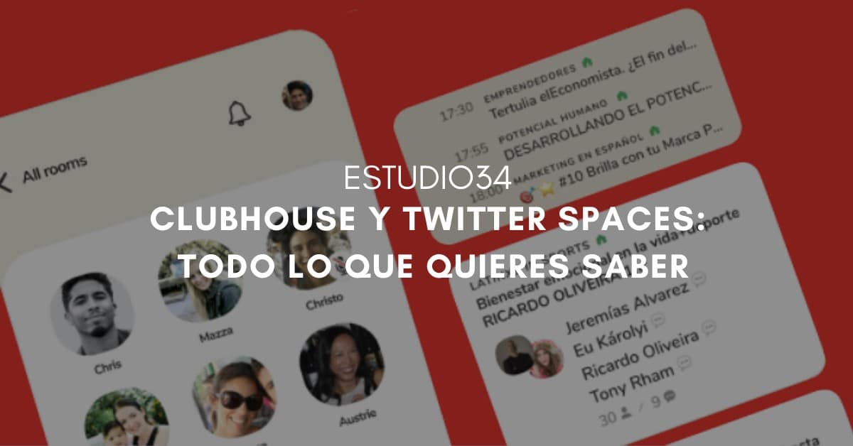 Noticia sobre Clubhouse y Twitter Spaces
